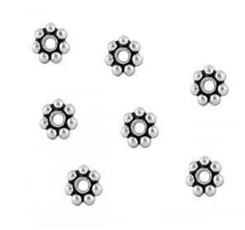 Froiny Plata de Ley Bali Espaciador Granos Blancos Core para Hacer la joyería DIY Pulseras Pulseras Collares (sobre 100pcs)