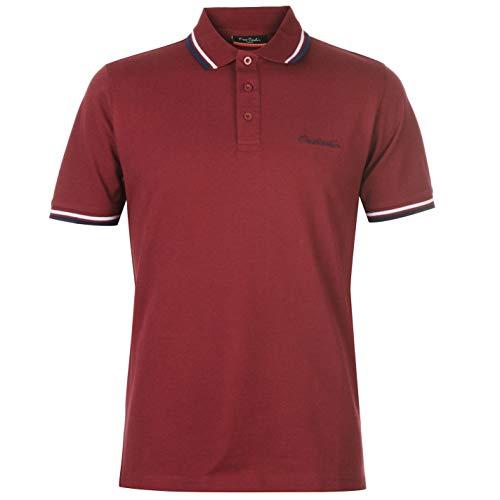 Pierre Cardin Herren-Polohemd mit Kontrast-Kragen, Kurzarm Gr. XL, burgunderfarben