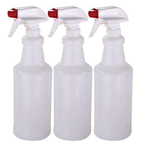 Pinnacle Mercantile Plastic Spray Bottles Leak Proof Technology Empty 32 oz Made in USA