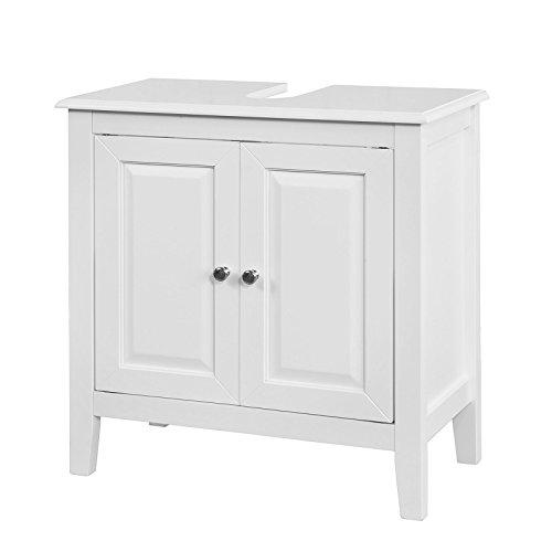 SoBuy FRG202-W Waschbeckenunterschrank Badschrank Waschtisch Unterschrank weiß BHT ca: 60x62x30cm
