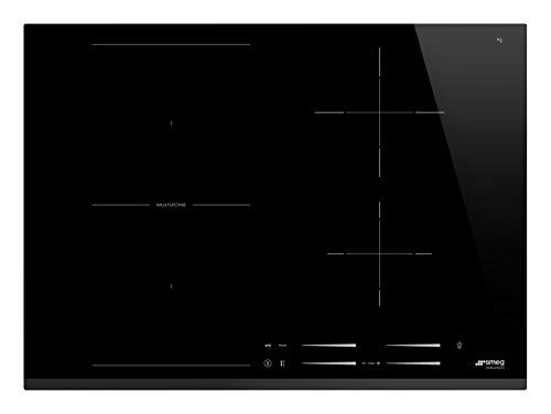 SMEG SI1M7743B Piano Cottura Nero Incasso A induzione, 3200 W, Vetro