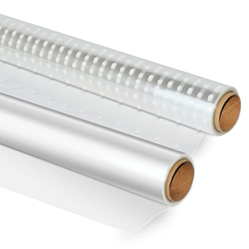 Clear Cellophane Wrap Roll 115 Feet Long 16.5 Inches Wide 2.5 mil Thick Wrap Cellophane Paper for Baskets Gifts Flowers Food Safe Cello Rolls(16.5x115') -2 Roll