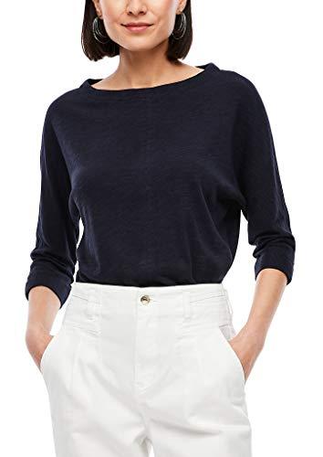 s.Oliver Damen 3/4-Arm-Shirt mit Fledermausärmeln Navy 40