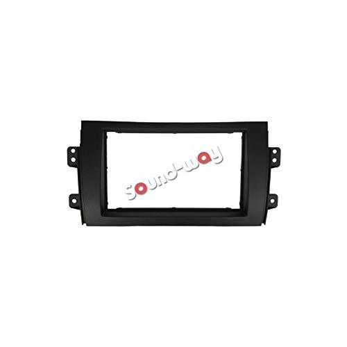 Sound-way 2 DIN Radiopaneel Frame Autoradio ondersteuning voor Fiat 16 zestien, Suzuki SX4