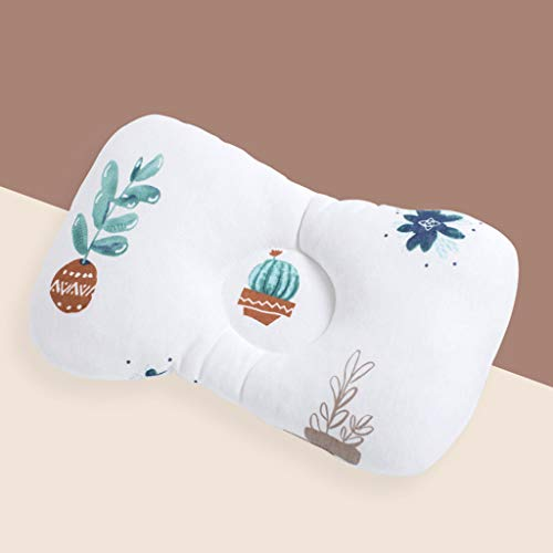 Luonita Newborn Baby Head Shaping Pillow,Preventing Flat Head Syndrome Premium Foam Infant Pillow for Head&Neck Support Pillow Best Perfect for Baby Boy & Girl (Green)