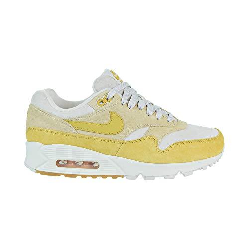 Nike Damen W Air Max 90/1 Sneakers, Mehrfarbig Guava Ice Wheat Gold Summit White 001, 44.5 EU