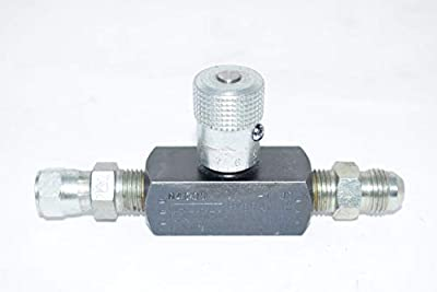 Needle Valve, Steel, 1/4-18, 5 GPM, 5000 PSI by Parker