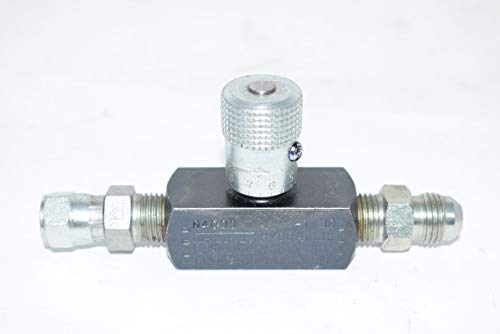 Parker N400S Needle Valve, Steel, 1/4-18, 5 GPM, 5000 Psi