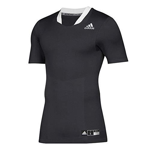adidas Techfit Lax Jersey- Men's Lacrosse L Black/White