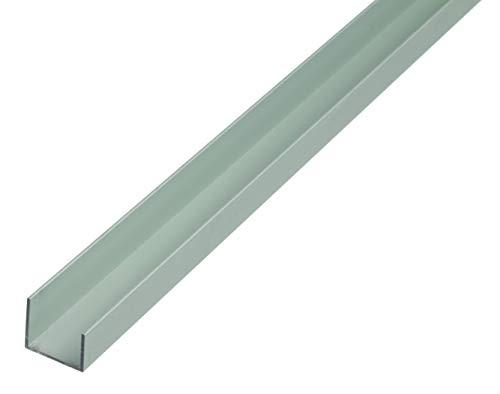GAH-Alberts 475192 U-Profil | Aluminium, silberfarbig eloxiert | 1000 x 20 x 22 x 15 mm