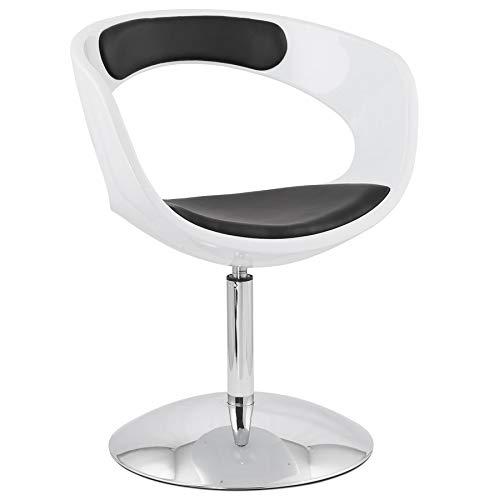 Alterego - Siège design rotatif 'SPACE' noir et blanc