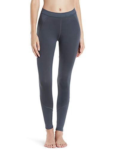 TSLA Women's Thermal Yoga Pants, Fleece Lined Compression Workout Leggings, Winter Athletic Running Tights, Wintergear Fleece(xup33) - DarkGreen, Small