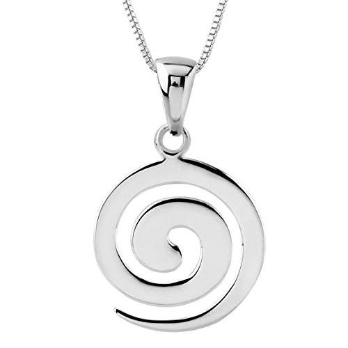 Sterling Silver Spiral Koru Pendant Necklace, 18'