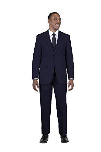 Stacy Adams Men's Big-Tall Suny Vested 3 Piece Suit, Navy, 56 Regular/W52