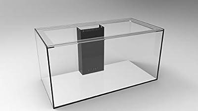 SC Aquariums 120 Gallon Starfire Glass Aquarium 48x24x24 12mm Eurobraced with Built-in Overflow Box