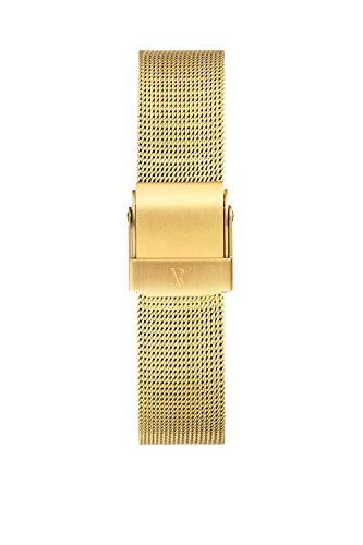 PAUL VALENTINE ® Uhren-Armbänder für Deine individuelle Uhr - In vielen Damenuhr (Gold Mesh Strap 18