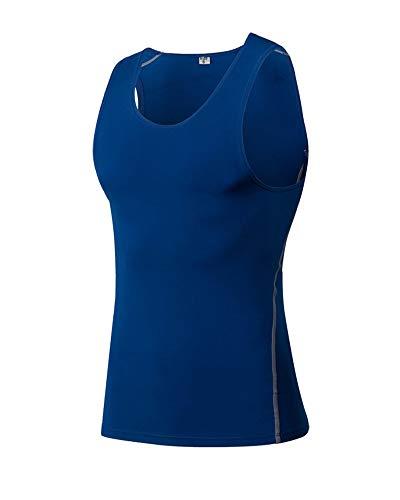 Yanlian Herren Sportswear Quick Dry Sleeveless Sports Tank Tops Tanktops Sportbekleidung Fitness Running Yoga & Pilates Blau M