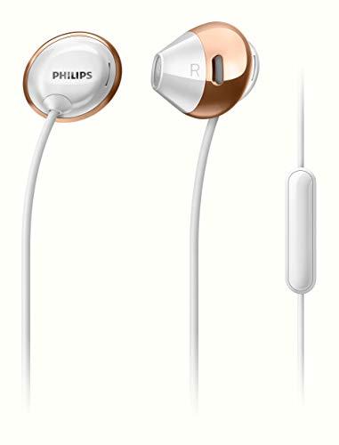 Philips SHE4205WT Flite Hyprlite In-Ear Kopfhörer mit Mikrofon (Federleicht, Metallic Design, Freisprechfunktion) weiß