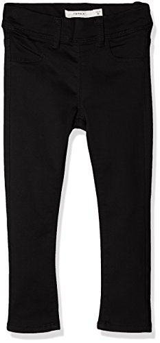 NAME IT Mädchen Hose Nittinna Skinny Twi Legging F Mini Noos, Schwarz (Black Black), 86