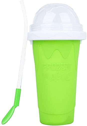 Quick Bombing Max 71% OFF free shipping Frozen Magic Smoothies Cup 2 Double 1 Spoon and Straw in