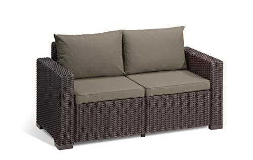 Allibert Lounge California sofá, Color marrón/Panama Taupe, 141x 68x 72cm, 233790