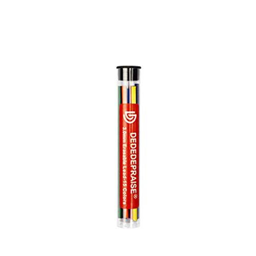 Druckbleistiftmine Bunte 3,0 mm Anime Bleistifte Stange Automatische Bleistiftmine farbige Mine Büro Schulbedarf TR-3000,15Nachfüllungen