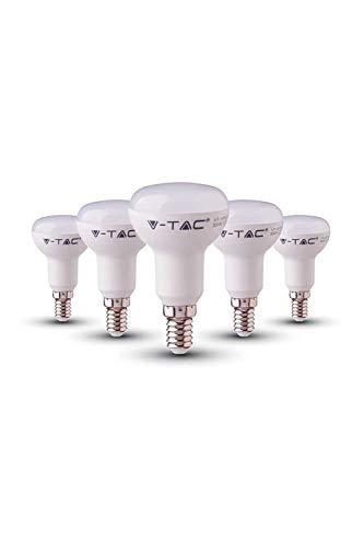 V-TAC 6W (40W) Energiesparende R50-Reflektor-LED-Glühbirne mit Samsung LED E14 SES (Small Edison Screw) 6400 Kelvin Weiß nicht dimmbar 5 PACK