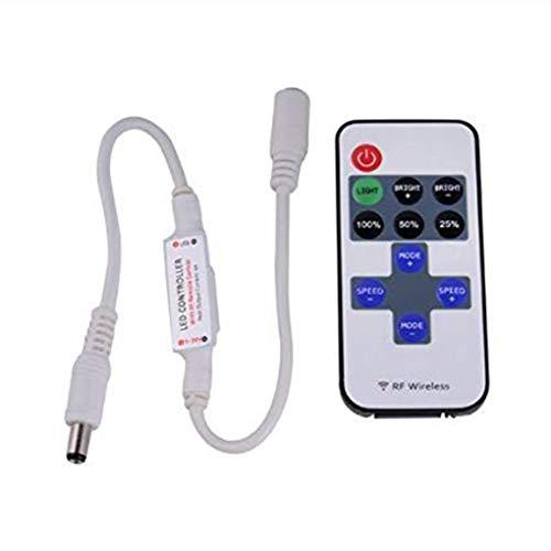 Chunyang 5-24V Mini-LED-Streifen 11 Tasten-Controller Dimmer Kunststoff RF einzelne Farbe drahtlose Fernbedienung