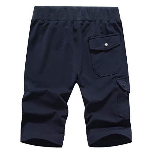 Amphia - Sportliche Shorts für Männer mit Militäranzug und Mehreren Taschen - Lässige Military Shorts für Herren Multi-Pocket Pure Color Sport-Laufhose