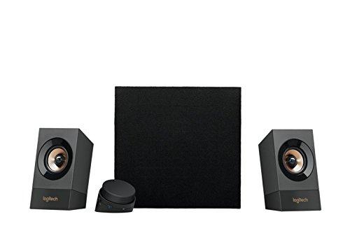 Logitech Z537 Kabelloses 2.1 Lautsprecher-System mit Subwoofer, Bluetooth, 120 Watt Spitzenleistung, 3,5 mm Eingang, Cinch-Eingang, Multi-Device, EU Stecker, PC/TV/Handy/PS4/Xbox - schwarz