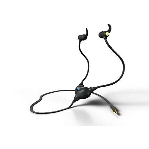 Strahlung frei Air Tube Headset mit 3,5mm Klinkenstecker + Mikrofon–Das Original patentierte–Schwarz