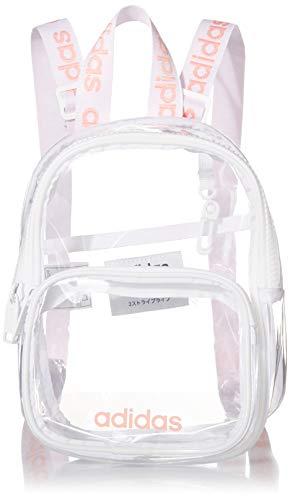 adidas Originals Mini mochila transparente unisex, Unisex, 5149676, Claro/blanco/rosa gloria, Talla única