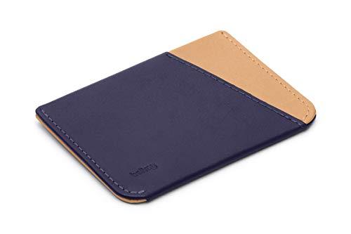 Bellroy Micro Sleeve (Minimalist Leather Card Holder, Super Slim Design, Holds 2-4 Cards, Folded Note Storage) - Navy