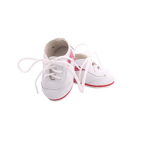 Uteruik Puppen-Sportschuhe für 46 cm amerikanische Puppe Flache Schuhe Kostümzubehör 1 Paar #B