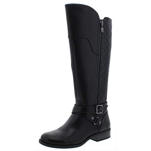 G by Guess Womens Haydin Faux Leather Riding Boots Black 7 Medium (B,M)