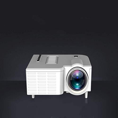 Casa Proyector LED Portátil Mini Proyector De Vídeo Proyección 1080P HD Para Los Juegos De Entretenimiento Película, Soporta HDMI VGA AV USB Micro SD