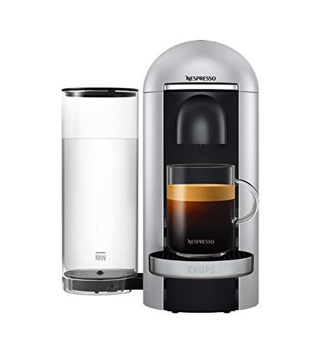 Krups XN900E Nespresso Vertuo Plus Kaffeekapselmaschine (1260 Watt, 1,7 l Wassertank) silber