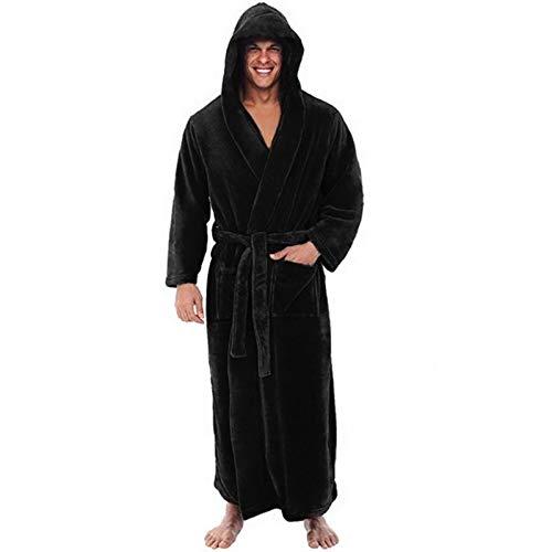 DALIANMAO Albornoz Albornoz Casual Kimono Albornoz Otoño Invierno Flannel Largo Robe Ropa de Dormir Caliente Talla Grande 5XL Camisón Masculino Casual Oscualwear (Color : A 5, Size : 5X-Large)