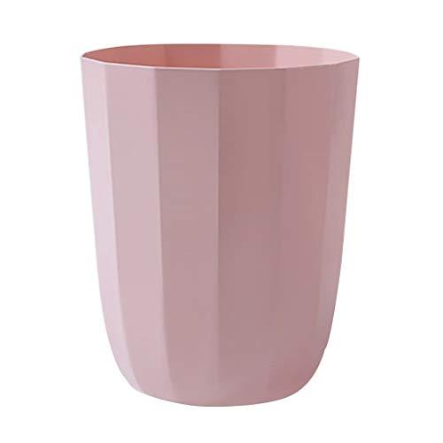 Hong Yi Fei-Shop papeleras Bote de Basura de plástico Estilo nórdico Baño Creativo Sala de Estar Cocina Clasificación Bote de Basura (Color : Pink)