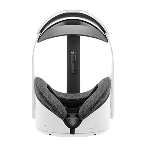 Fundas para auriculares Oculus Quest 2 Gen VR de algodón lavable e higiénico, 2 piezas (gris)