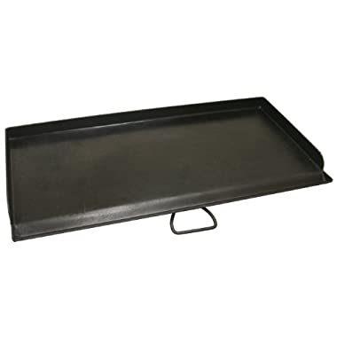 Camp Chef, SG60 Professional True Seasoned Steel Griddle Covers Two Burners with Handle, Fits Most 14  Cooking Systems