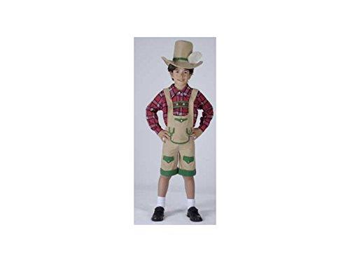 JUGUETILANDIA Disfraz Chico de los Alpes Niño Talla M