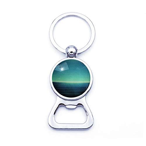 Ocean and Skyline - Abridor de Botellas de Plata, Regalo para el océano, Skyline, Cielo Azul, Agua, Regalo de Playa