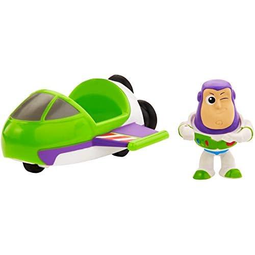 Toy Story - Minis Disney Pixar Buzz Lightyear con Astronave, Mini Personaggio con Veicolo da Collezionare, per Bambini da 3+ Anni, GCY63