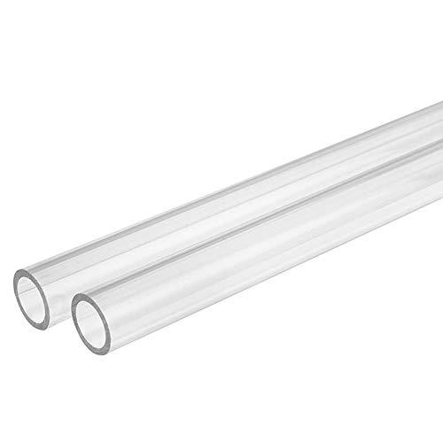 Dumadf Plexiglas Plexiglasrohr, 2ST Transparente Kunststoffrohr, Aquarium Gärten Rohrfittings, Wandstärke 1mm,Outer Diameter 8mm
