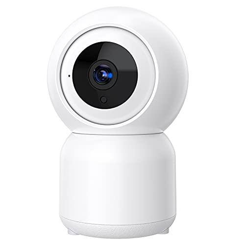 Telecamera di sorveglianza WiFi per interno, 1080P telecamera wi-fi interno, telecamera IP con auto-tracking, visione notturna voce bidirezionale registrazione continua allarme App, supporto Alexa