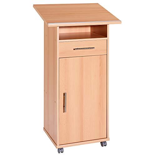 Möbelpartner Stehpult mit Tür | HxBxT 1094 x 600 x 500 mm| Buche