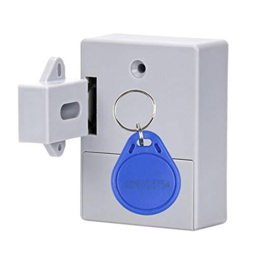bansd 1 Juego Shgo-Invisible RFID Oculto Apertura Libre Sensor Inteligente Cerradura de gabinete Gris