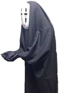 今年大流行!! ハロウィン 2016 千と千尋の神隠し カオナシ 風 衣装 セット 衣装 、 マスク 、手袋 コスチューム コスプレ 男女共用 フリーサイズ メンズ レディース 【R-farmオリジナルキズフェイクシール付き】 No.2