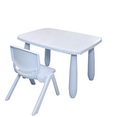 Equipo diario Juego de escritorio y silla para niños Juego de mesa y sillas de plástico para niños pequeños para actividades de estudio Uso en interiores o exteriores Juego de sillas de mesa para n